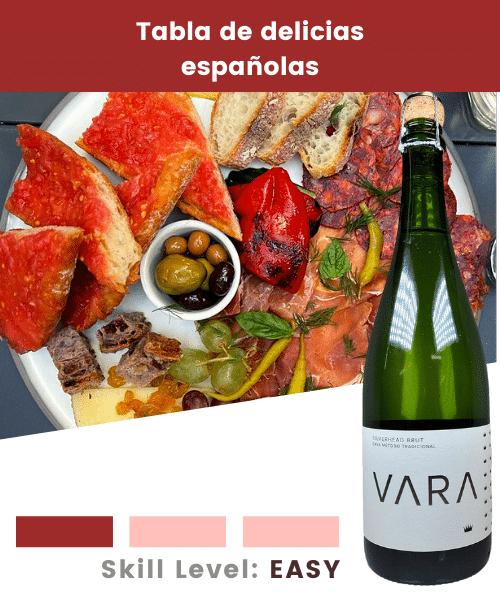 Tabla de delicias españolas
