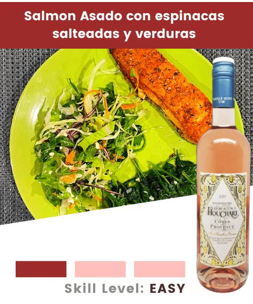 Salmon y verduras
